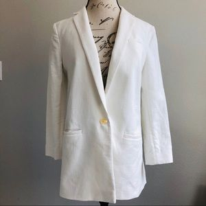 Banana Republic Blazer Textured Button Front Sz 14